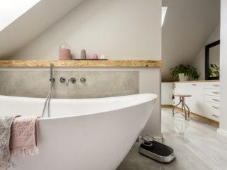 De badkamer en suite